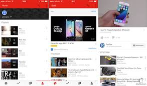 redesigned youtube app for ios briefly appears for some users