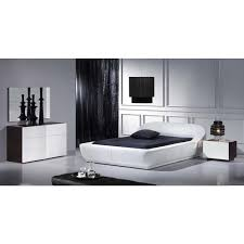 Silver Collection White High Gloss Bedroom Set - White high gloss bedroom furniture set