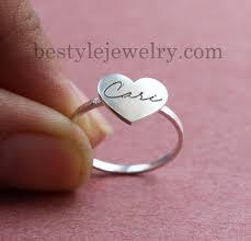 heart ring engraved handwriting heart ring engraving ring