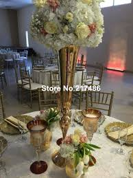 flower wholesale wholesale beautiful metal flower vase gold paited flower