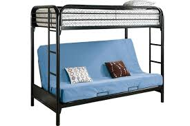 Safe Metal Futon Bunked Outback Black Futon Bunk Bed The Futon - Futon bunk bed with mattresses