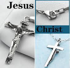 jesus crucifix necklace images Catholic jesus cross pendant titanium crucifix necklace for men jpg