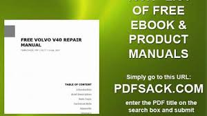 free volvo v40 repair manual video dailymotion