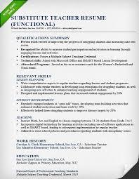 substitute resume exle sle resume for teachers 19 sle skills seangarrette