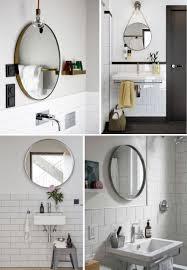 industrial style round mirror vanity decoration