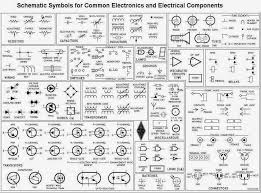 schematic symbols for common electronics and electrical components