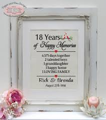 18th anniversary gift 18th wedding anniversary gifts 18 years married 18 years together