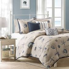 Ocean Duvet Cover Madison Park Nantucket Blue Cotton Printed 6 Piece Duvet Cover Set