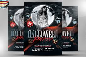 black halloween club flyer template flyer templates creative