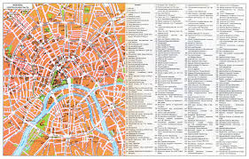 Moscow Map Large Tourist Map Of Moscow City Center In Russian Moscow