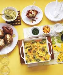 Toppings For A Mashed Potato Bar How To Set Up A Family Friendly Baked Potato Bar Real Simple