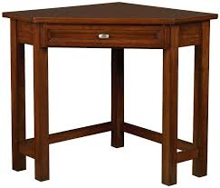 white lacquer oak wood corner desk with drawer and v shape open