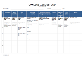 It Issue Log Template offline issues log template word excel templates