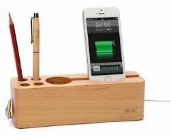 Cell Phone Holder For Desk Wooden Cell Phone Stand Charging Dock Holder Pen Pencil Holder