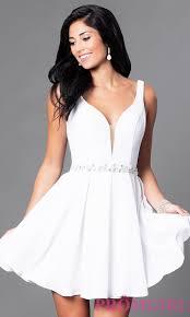 open back v neck short homecoming dress promgirl