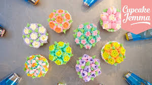 how to decorate cupcakes at home how to use russian piping nozzles cupcake jemma youtube