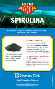 Map Of Cleveland Clinic Spirulina The Superfood You U0027ve Never Heard Of Infographic