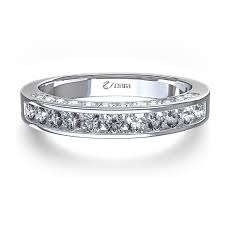 channel set wedding band set wedding band with side diamonds in 14k white gold