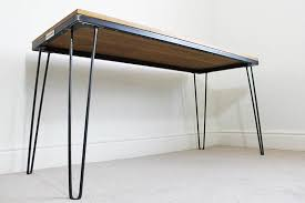 vintage hairpin table legs vintage industrial style oak desk table with hairpin legs uk