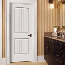 Home Depot Prehung Interior Doors Jeld Wen Smooth 2 Panel Arch Top V Groove Painted Molded Prehung