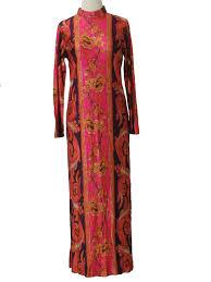 vintage dress 70 s slinky 70 s vintage hippie dress 70s no label womens plum orange