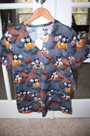halloween scrubs tops disney mickey mouse halloween scrub top medical nursing women u0027s