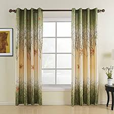 Tree Curtain Green Maple Leaf Curtains Koting Gorgeous Tree Lined Window