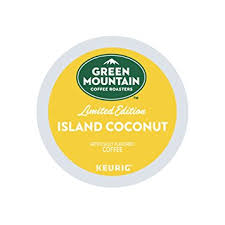 keurig k cups light roast green mountain coffee roasters island coconut limited edition