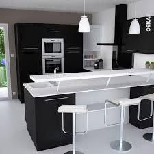 cuisine moderne noir et blanc cuisine 2012 cuisine en l cuisine avec îlot les nouvelles