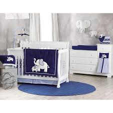 White Crib Set Bedding Baby Nursery Comfortable Modern Boy Baby Crib Sets Decor With