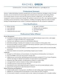 Resume Templates  Construction Consultant
