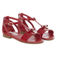 girls red patent leather sandals of dolce u0026gabbana in baby liberdade