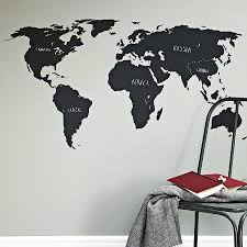 chalkboard world map wall sticker blackboards wall sticker and blackboard world map wall sticker a great way to teach children or simply plan your