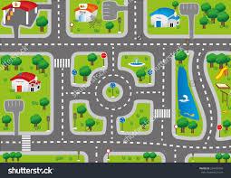 Kids Race Track Rug by Car Road Map Carpet Carpet Vidalondon
