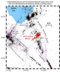 San Andreas Fault Line Map Southern Extension Of San Andreas Fault Lights Up In A Seismic