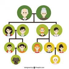 family tree icons vector free