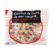 cuisiner cocktail de fruits de mer surgelé cocktail de fruits de mer congelé auchan 400g simply market