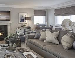 livingroom lounge grey blue and taupe in the rustic chic esher project livingroom
