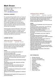 English Teacher Resume Samples by English Teacher Cv Teaching Resume Builder Recentresumes Com