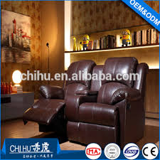 Home Theater Sofa by New Arrival Chocolate Leather Vip Movie Cinema Chair Home Theater