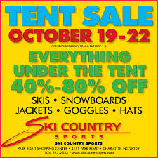 5 items you bring home from ski country sports tent sale