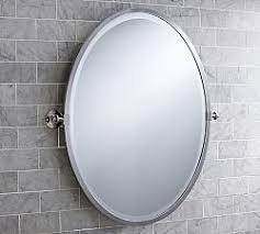 Polished Nickel Vanity Mirror Bathroom Vanity Mirrors Pottery Barn