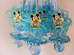 baby mickey mouse baby shower 12 baby mickey mouse pacifier necklaces baby shower favors