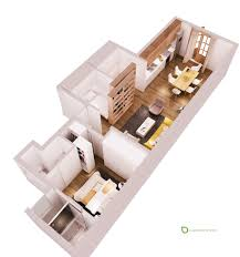 Floor Plans For Small Apartments by Small Apartments With Cheerful Colorful Accents