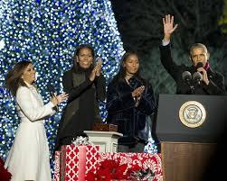 president obama light national tree