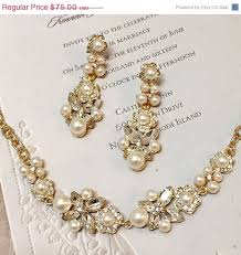 bridal gold set bridal gold bracelet bridal jewelry set bridal pearl set