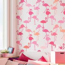 wallpaper with pink flamingos flamingo stencil pattern tropical wallpaper stencils for diy home