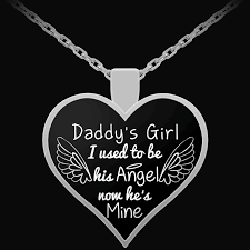 girl heart necklace images Daddy 39 s girl pendant forever in my heart png