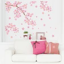 cherry home decor pink flying flower sakura cherry blossoms backdrop living room
