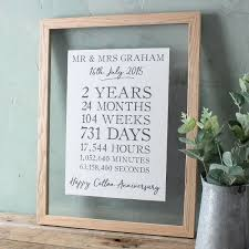 2nd anniversary gifts for cotton 2nd wedding anniversary gifts gettingpersonal co uk